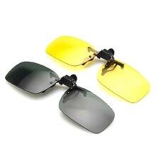 цена на Sunglasses Clip Driving Night Vision Lens Sun Glasses Male Anti-UVA UVB For Men Women Fashion Driver Goggles