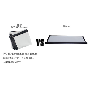 Image 5 - Byintek 84インチ100インチ120インチ150インチのpvcソフト折りたたみhd 1080 1080pホームシアター屋外投影プロジェクタースクリーン16:9