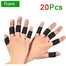 Tcare-20 piezas de mangas para dedos, Protector de pulgar, cinta elástica transpirable para baloncesto, tenis, béisbol y grillo