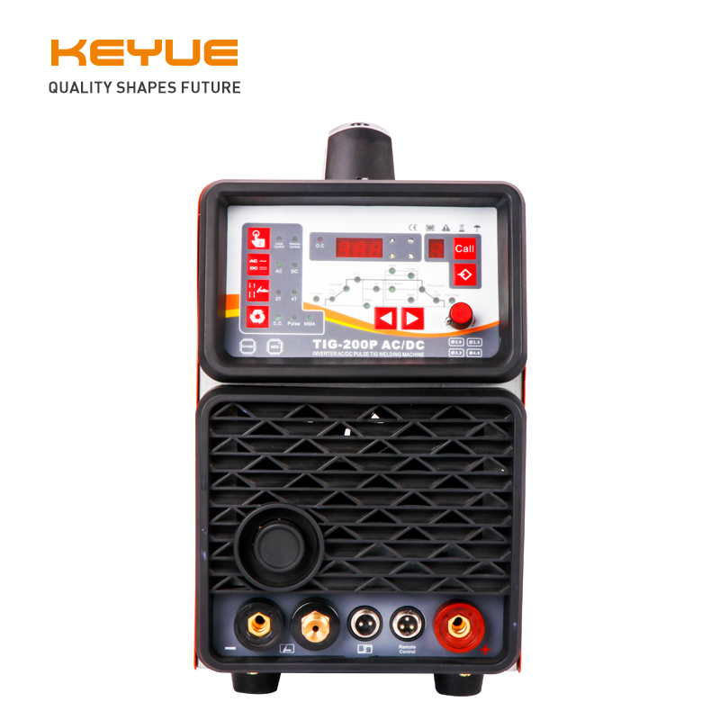 KEYUE TIG200P AC DC Portable Single Phase 220V Aluminum Welder Inverter Digital Pulse TIG MMA Welding Machine Remote Control