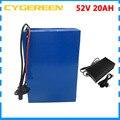2000 Вт 52 в 25ач литиевая батарея ebike 1500 Вт 52 в 20ач батарея для использования 3 7 в 2500 мАч с 30A BMS 58 8 в 2A зарядным устройством