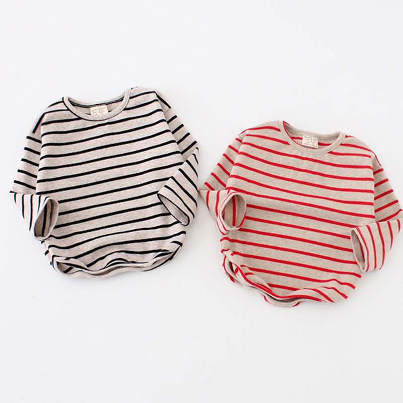 Fashion Striped Print 2019 Kids Baby Girls Clothes Cotton Long Sleeve T Shirts For Children Girls Autumn Spring Baby Clothing