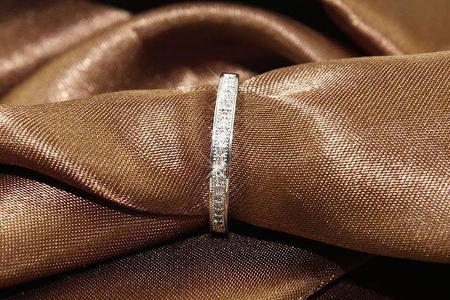 Фото 3 цвета простые золотые розовые серебряные круглые кольца для