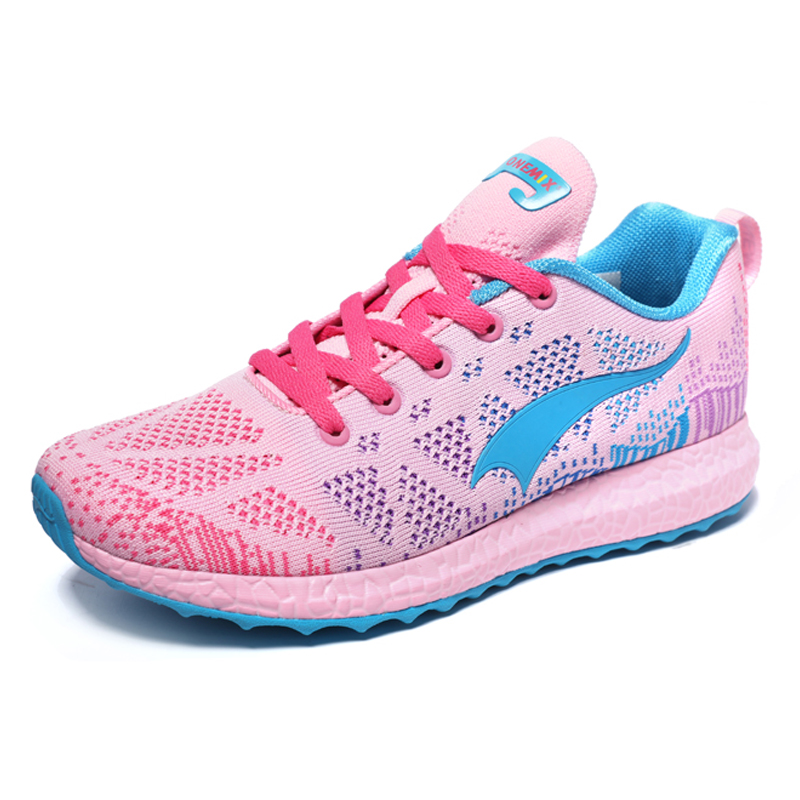 ONEMIX 2019 Women Air Breathable Running Shoes For Women Sport Shoes Outdoor Trail Trainers Pink Summer Trekking Shoes