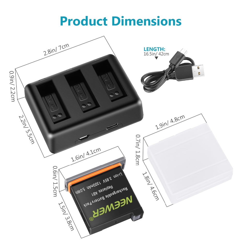 3 Channel Black Charging Box USB Camera Battery Charger Power for GoPro HERO 9
