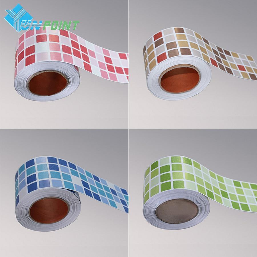 0.1x1M PVC Creative Mosaic Self-adhesive Wallpaper Kitchen Adesivo De Parede Wall Papers Bathroom Toilet Waterproof Tile Sticker