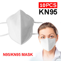 N95 Respirator Mask 10Pcs N95 KN95 Mask kf94 마스크 Face Mask  4-Layer Anti Dust Bacterial PM2.5 Protective Masks 95% Filtration Non-woven Mouth Cover