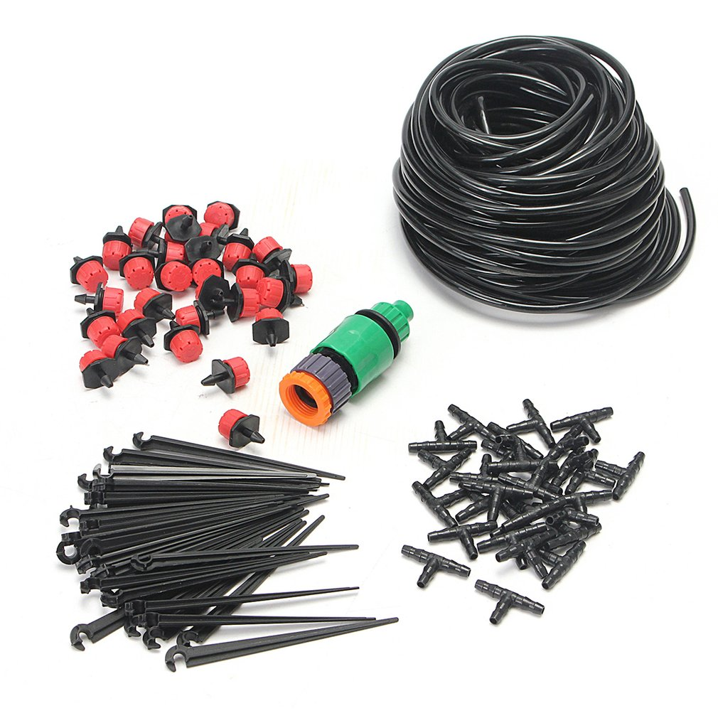 25m 82ft DIY Drip Irrigation System Automatic Self Watering Garden Hose Micro Drip Garden Watering Hose System Wholessale