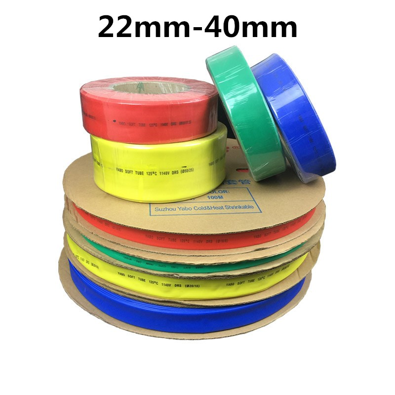 K-Fang-heat 1meter 2:1 Black 15mm 16mm 18mm 20mm 22mm 25mm 28mm 30mm 35mm 40mm Heat Shrink Heatshrink Tubing Tube Wire Color : 15mm