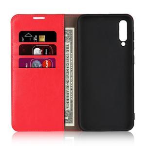 Image 3 - الطبيعي جلد طبيعي الجلد محفظة قلابة كتاب غطاء إطار هاتف محمول على لسامسونج غالاكسي A20 A30 A50 A30S 2019 A 20 30 50 S 32/64 GB