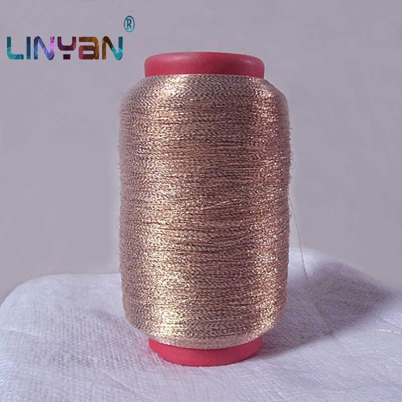 250G Gouden Zijde Borduurgaren Zomer Stijl Naaigaren Garen Voor Breien Wol Garen Voor Haak Machine Knit Garen ZL6443