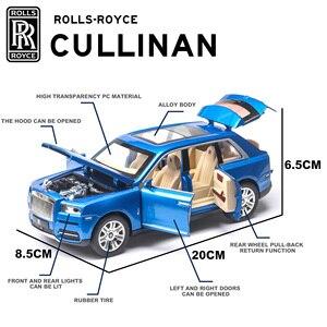 Image 4 - Royce Cullinan modèle de voiture en alliage, modèle de voiture SUV en métal, Simulation de grande taille, son léger, échelle rétractable, miniature