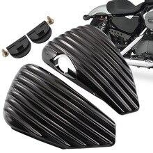 Cubierta lateral del tanque de aceite para motocicleta Harley Sportster Nightster XL1200N XL, hierro 883 1200 48 72, piezas negras