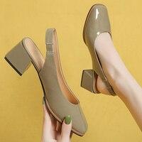 Zapatos de tacón elástico de piel sintética para mujer, zapatillas lindas informales, cómodas, de cabeza redonda, sin cordones, color Beige y blanco, 2021