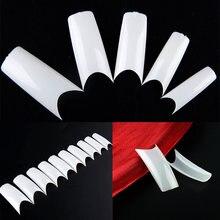 500 шт половинные накладные ногти длинные квадратные искусственные