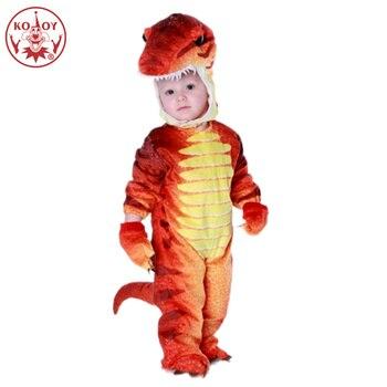 Детский костюм динозавра Purim для мальчиков малышей животных Косплей Костюм Рождественская вечеринка Хэллоуин костюмы для детей