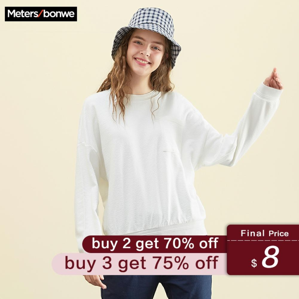 Metersbonwe Girls Hoodies For Women Female Solid Color Girls Casual Sweatshirt 2019 New Women's Sweet Hoodies Student Hoodies