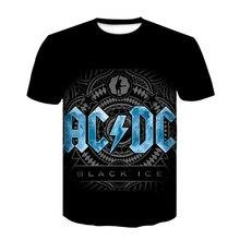 Erkekler kısa kollu tişört marka artı boyutu Hip-hop T-Shirt erkekler Metal Rock grubu 3D baskı siyah tişört 2021 buz T-Shirt