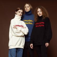 Women's sportswear Solid color loose women's sweatshirt High-neck embroidered sweatshirt plus velvet padded pullover sweatshirt rose embroidered plaid sweatshirt