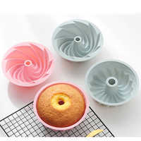 Creative Silicone Cake Mold 6 Inch Household Steamable Food Grade Non-stick Round Baking Tool Savarin Baking Pan