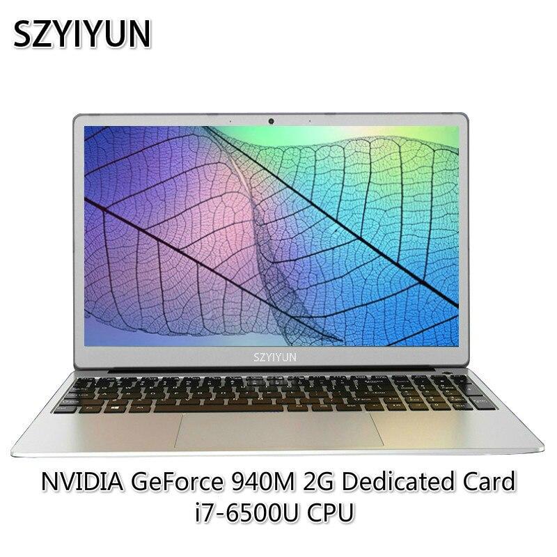 I7 6500U Gaming Laptop 8G RAM ноутбук NVIDIA GeForce 940M Notebook Working PC Computer Laser Russian Backlit Keyboard Netbook