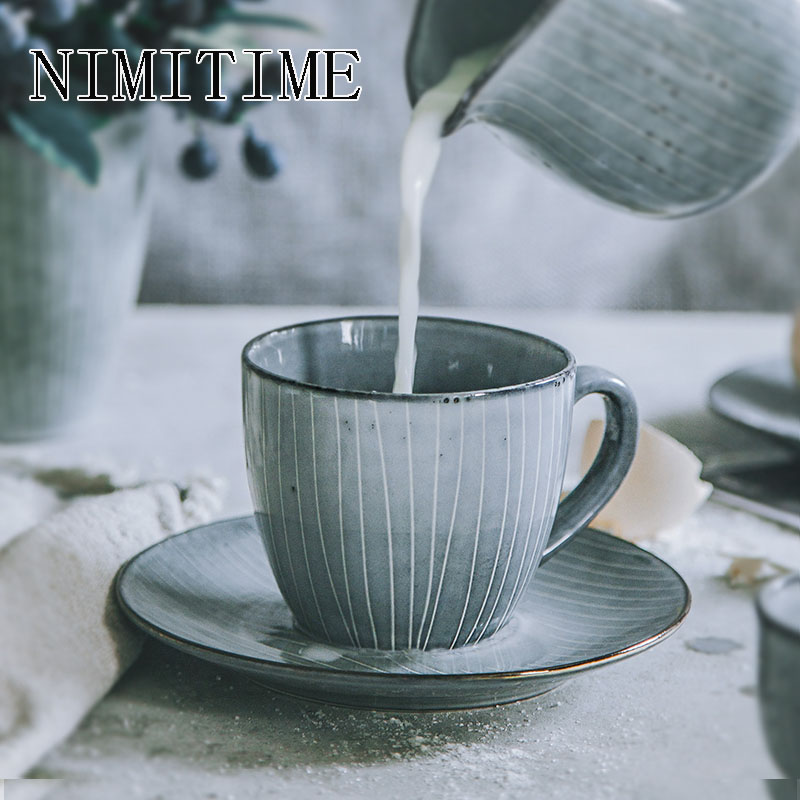 NIMITIME Japanese Style Retro <font><b>Coffee</b></font> <font><b>Cup</b></font> <font><b>Set</b></font> Afternoon Tea Breakfast Water Household <font><b>Cup</b></font> Drinkware image