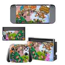 Animal Crossing Wild World Skin Sticker vinyl for Nintendo Switch sticker skin NS Console and Joy-Con Controllers