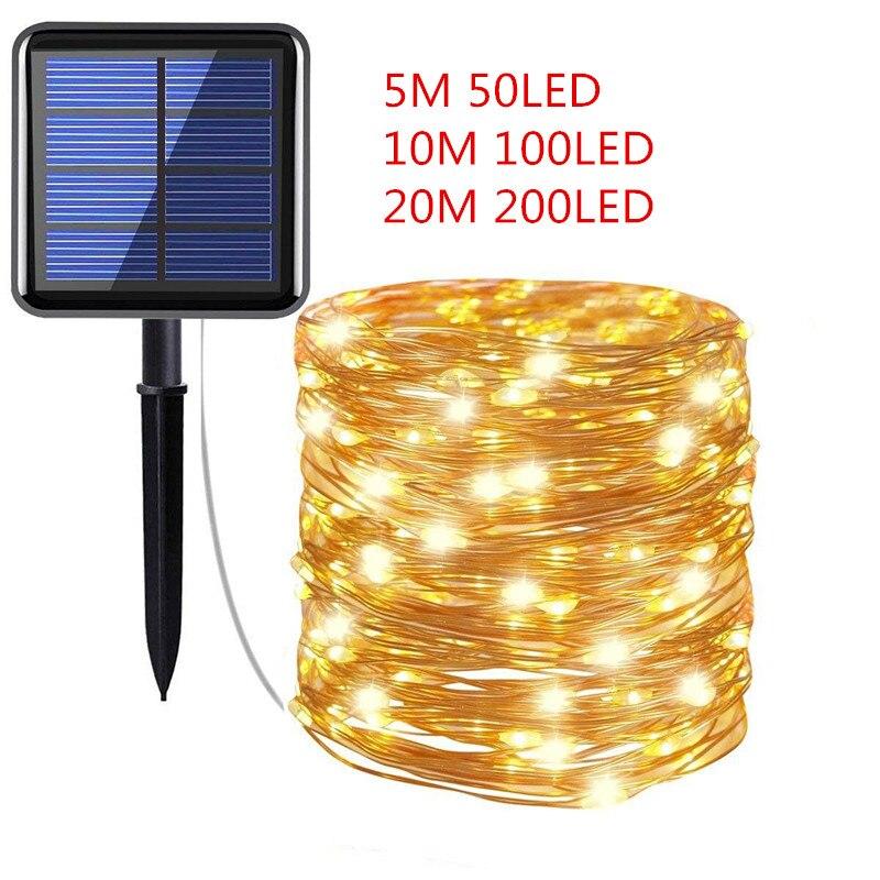 10M 20M 100 200 LED RGB Fairy String Lights Rope Tube Xams Party Solar USB Lamp