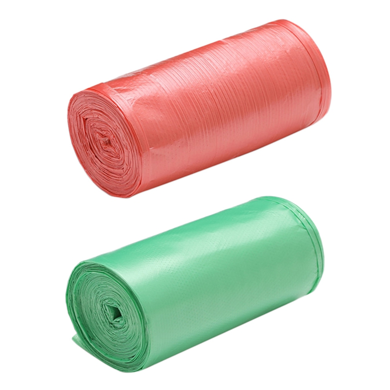 2 Rolls 50 X 46 Cm Garbage Bags Single Color Thick Environmental Plastic Trash Bags Disposable Plastic Bag, Green & Red