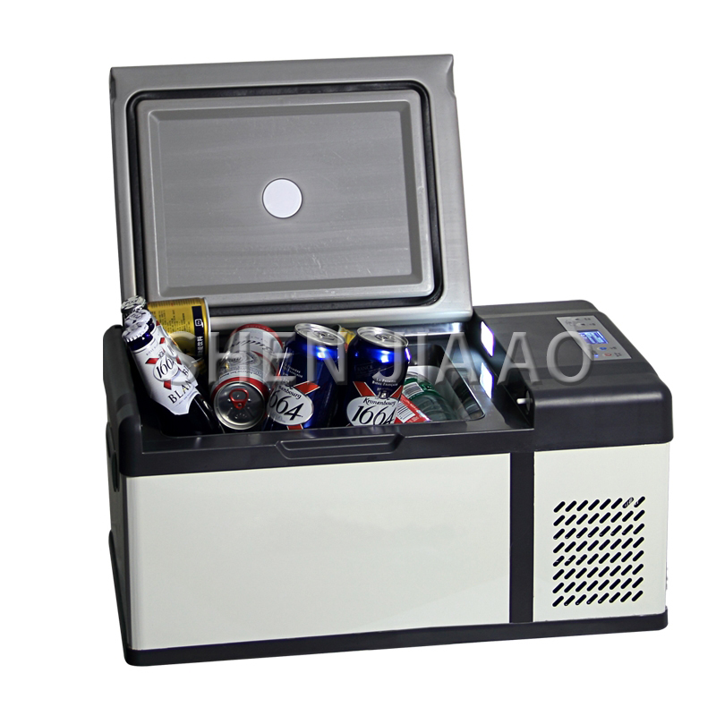 15L Car Refrigerator Fast Icing Freezing Small Refrigerator 12V/24V/220v Truck/car/home Use Mini Portable Fridge