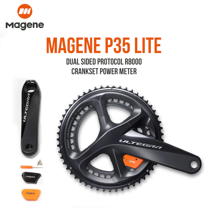 Magene Ultegra R8000 Road Bike Power Meter P35 Lite Dual Side Crank Arm Power Meter Cycling 170mm 172.5mm  39/53 36/52 34/50