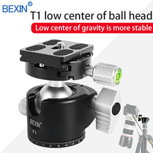 BEXIN Low profile camera ball head panorama head photo ball mount CNC machining aluminum 8kg load bearing tripod head for camera 8kg crossfit wall ball for strength building exercises