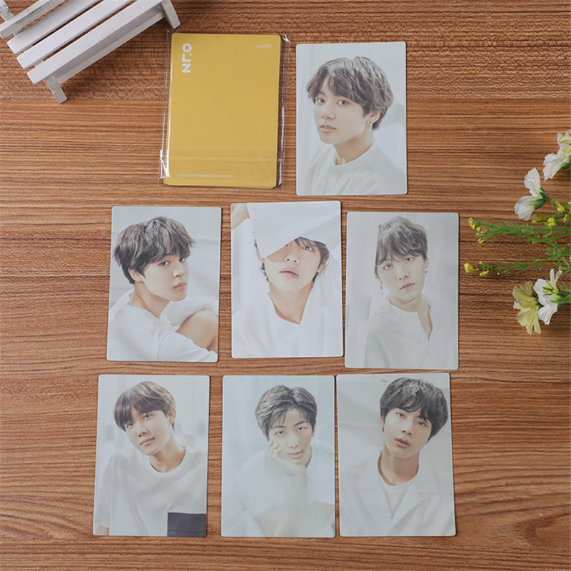 KPOP Bangtan Boys Map Of The Soul 7 LOMO Card Double Sides Photo Card JUNG KOOK JIMIN JIN SUGA J-HOPE Fans Collection  7*10CM