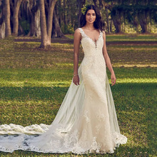 Eightree Mermaid Wedding Dress Beading Sweetheart 2019 Illusion Appliques Lace Trumpet Princess Bride Gown Back With Keyhole