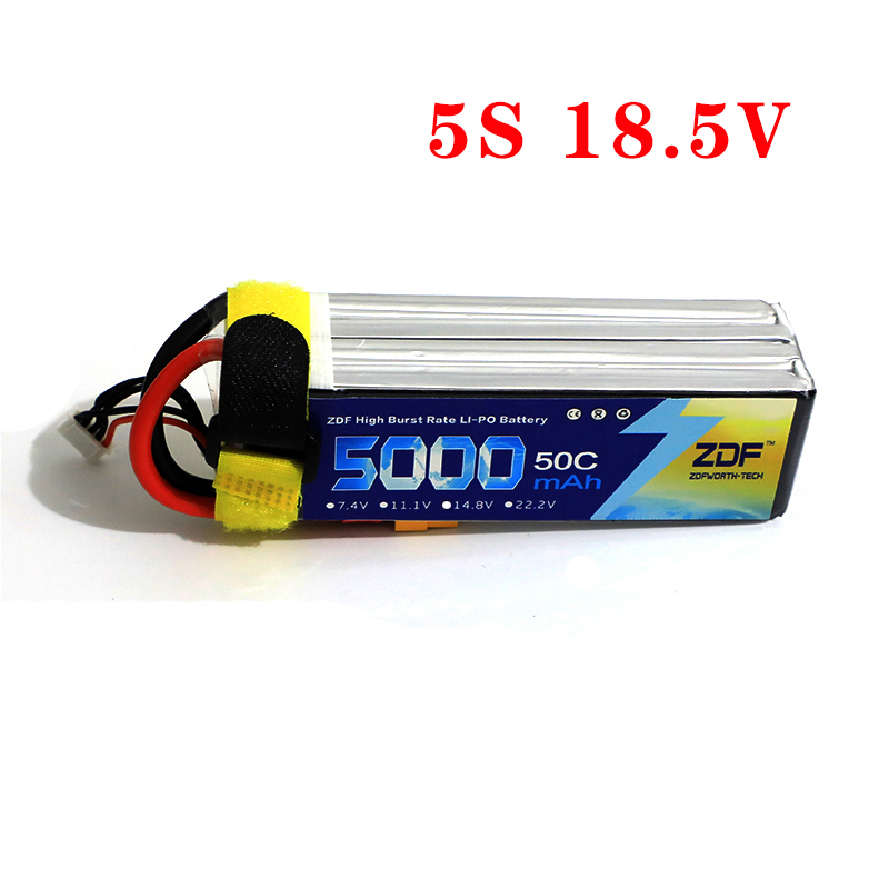 ZDF 18.5V <font><b>5S</b></font> <font><b>5000mAh</b></font> 50C 100C RC <font><b>LiPo</b></font> Battery Batteries for Helicopter Quadcopter Boat Car Slash 4X4 Ultimate image