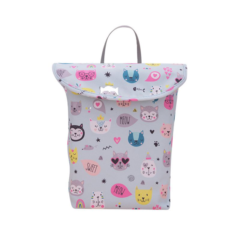 1Pc Baby Multifunctiona Convenient Stroller Hanging Bag Baby Waterproof Diaper Bag Diaper Wet Diaper Storage Bag Mummy Bag