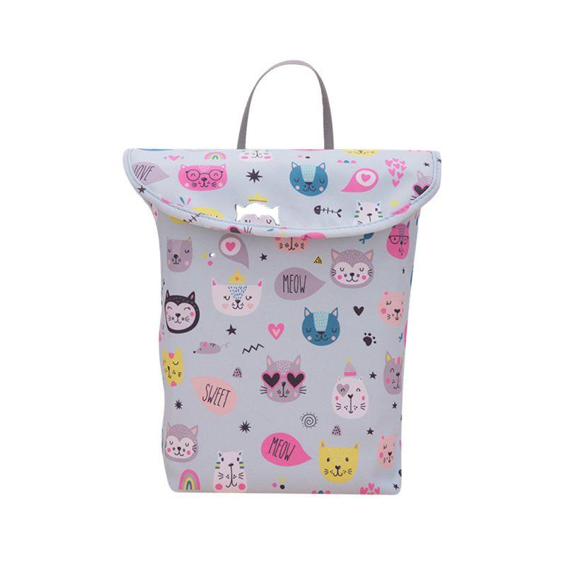 1Pc Baby Multifunctiona Convenient Stroller Hanging Bag Baby Waterproof Diaper Bag Diaper Wet Diaper Storage Bag Mummy Bag
