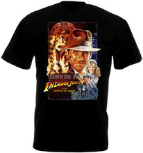 Indiana Jones et le Temple de Doom affiche de film hommes t-shirt drôle Hip Hop Streetwear t-shirt Logo Cool t-shirt marque(China)