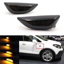 Nicarda 2Pcs LED Amber Dynamic Flowing Turn Signal Side Marker Light For Opel Mokka X  Chevrolet Trax 2013 2019
