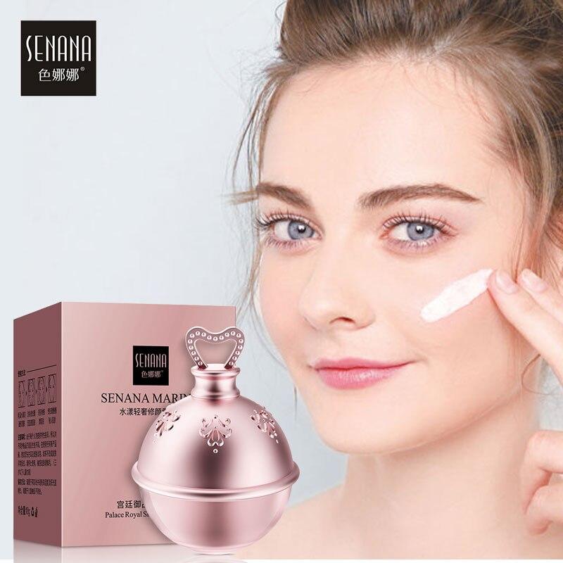 SENANA Anti-Aging Whitening Face Cream  Tender Cream Moisturizing Oil-Control Brighten Lazy Nude Concealer Makeup Skin Care 10g