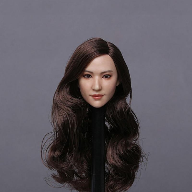 GACTOYS GC015 1/6 Liu Yifei Crystal Liu Brown Hair Head Sculpt For DIY Action Figure