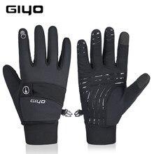 Giyo inverno luvas esportivas das mulheres dos homens ciclismo bicicleta luvas de dedo longo completo estrada mtb luvas de esqui da motocicleta luvas de condução