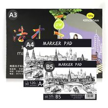 Paper-Pad Drawing Notebook Marker Paiting Sketch for Art Diary Student Gifts 30-Sheets