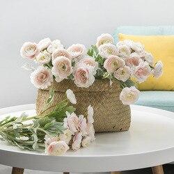 Artificial British Lulian Nordic Home Decoration Wedding Artificial Flower Rose Artificial Bouquet Wholesale  Artificial Roses