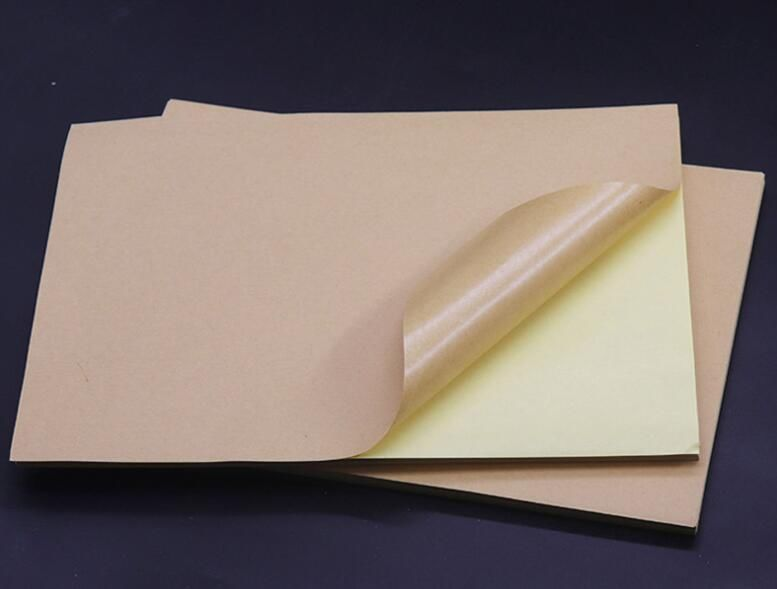 50 Sheets Printable A4 Brown Kraft Self Adhesive Sticky Back Shipping Label Sticker