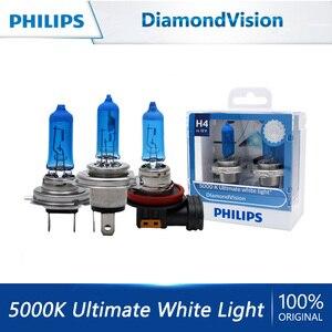 Philips DiamondVision H1 H4 H7 H8 H11 HB3 HB4 9003 9005 9006 12V 5000K Car Halogen Headlight OEM Fog Lamps Xenon White Bulb 2X
