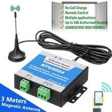 RTU5024 GSM ouvre porte relais commutateur télécommande avec longue antenne sans fil ouvre porte appel gratuit SMS 850/900/1800/1900MHz