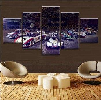 Póster de coche deportivo de 5 piezas de alta calidad, pintura moderna, lienzo, decoración para el hogar, sala de estar o dormitorio, impresión en HD, imagen Modular artística para pared