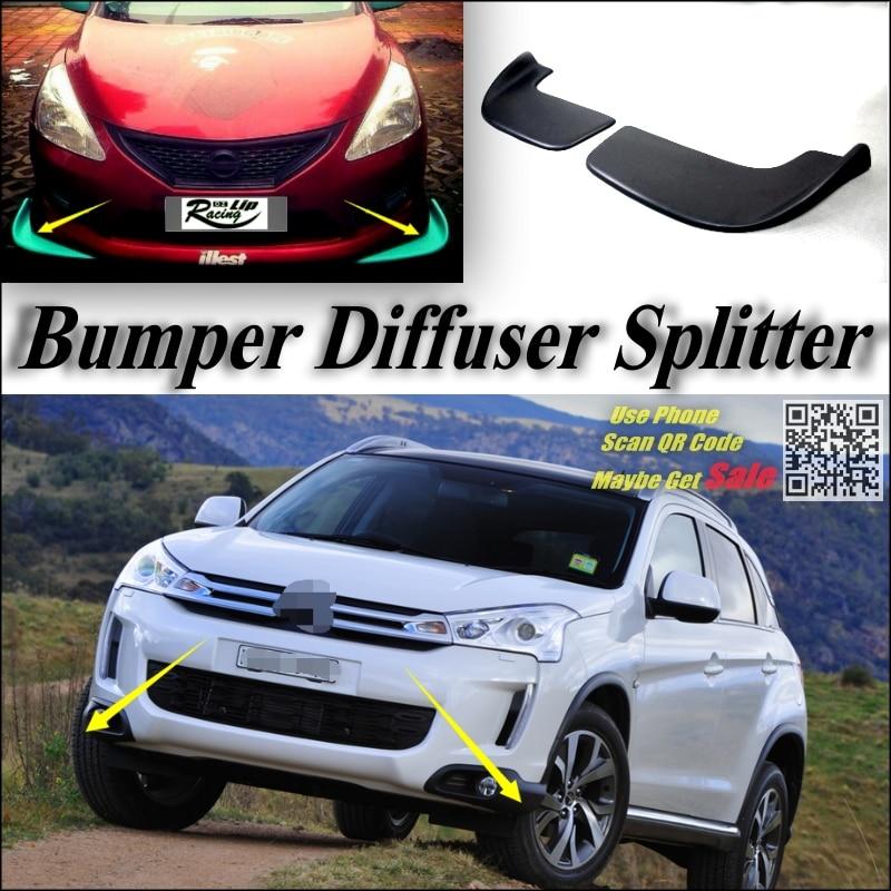 Car Splitter Diffuser Bumper Canard Lip For Citroen C4 Aircross Tuning Body Kit / Deflector Car Fin Flap Chin Refit Body Reduce title=