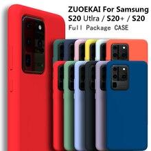 ZUOEKAI S20 Ультра чехол для Samsung Galaxy S20 Plus Шелковый силиконовый чехол высокого качества мягкий на ощупь защитный чехол для Galaxy S20 +